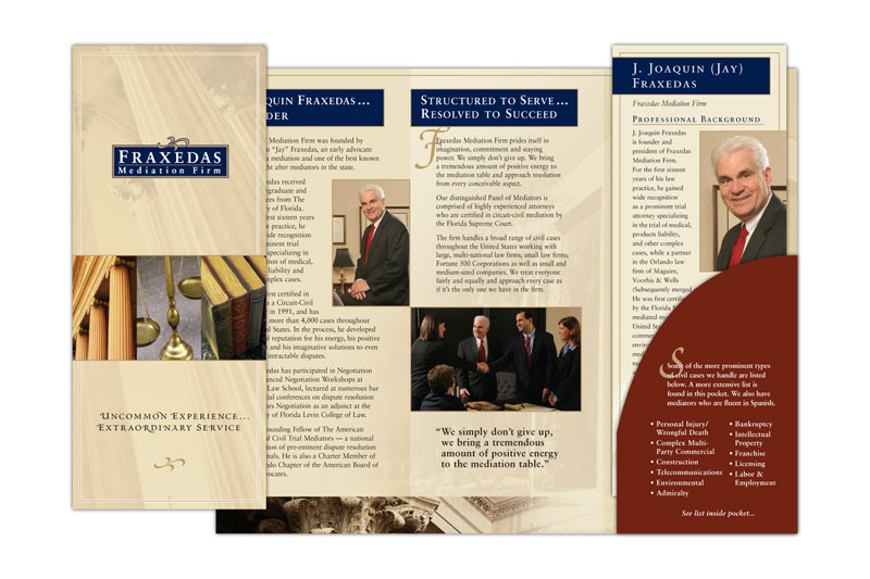 Stephenson Marketing: Fraxedas Mediation Firm Brochure